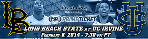 Black and Blue rivals Long Beach State and UC Irvine clash at the Bren Events Center on Fox Sports Prime Ticket Thursday